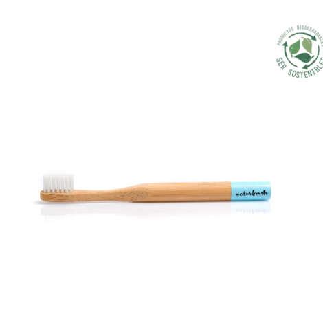 Ser Sostenibles cepillo de bambú kids azul naturbrush